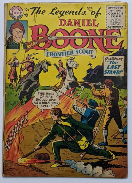 The Legends Of Daniel Boone #5 (Apr 1956, DC) Good 2.0 Nick Cardy art