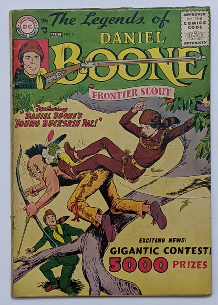 The Legends Of Daniel Boone #7 (Aug 1956, DC) G/VG 3.0 Nick Cardy cvr and art