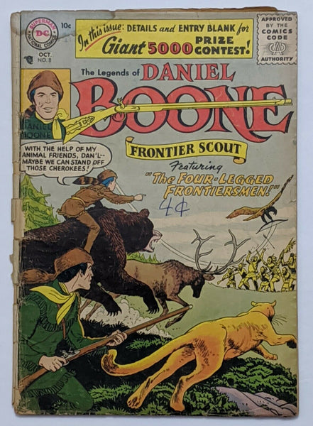 The Legends Of Daniel Boone #8 (Oct 1956, DC) Good- 1.8 Nick Cardy cvr and art
