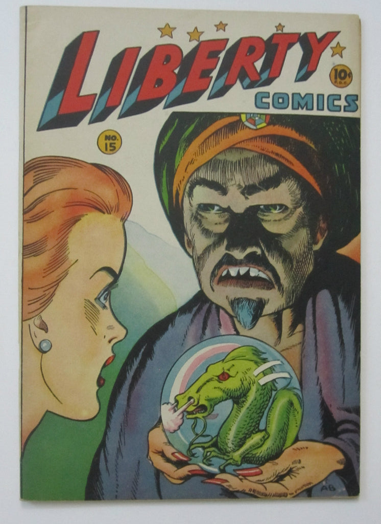 Liberty Comics #15 (Jun-Jul 1946, Green) VF- 7.5