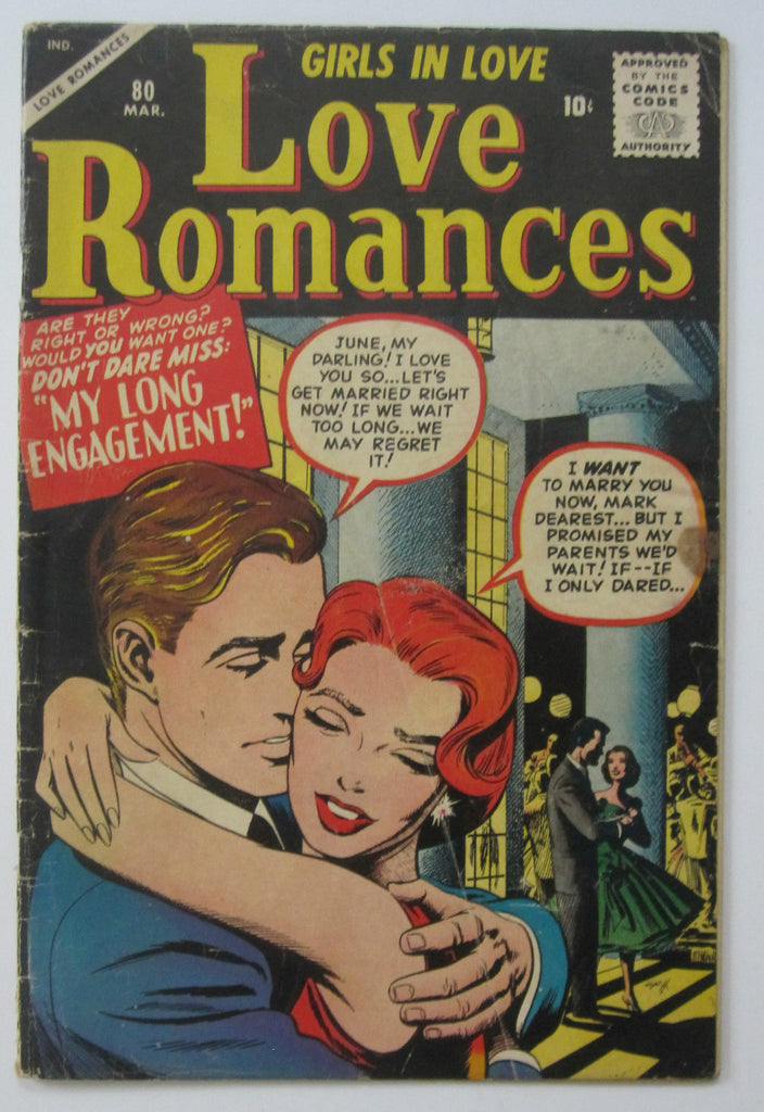Love Romances #80 (Mar 1959, Marvel) Russ Heath cvr Matt Baker pencils G/VG 3.0
