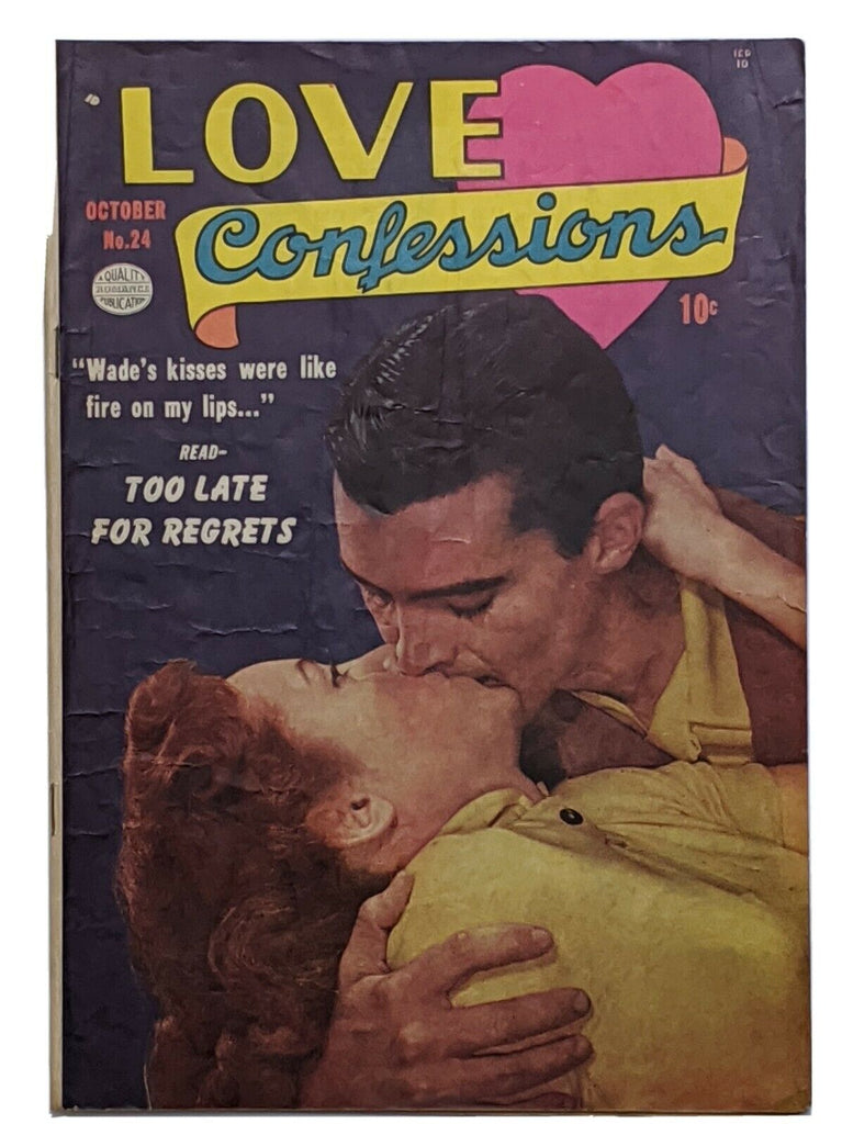 Love Confessions #24 (Oct 1952, Quality) VG/FN 5.0 Pre-Code Romance