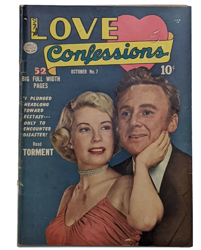 Love Confessions #7 (Oct 1950, Quality) VG- 3.5 Van Johnson photo cover