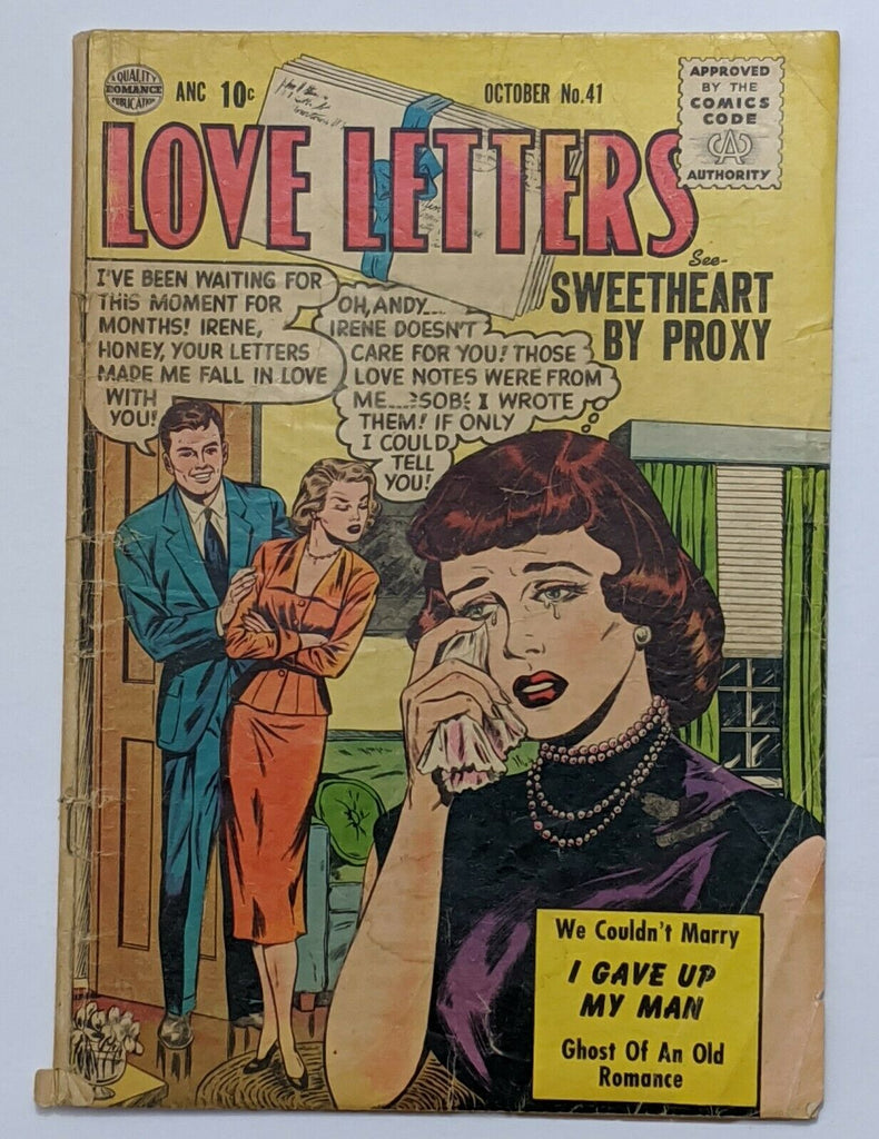 Love Letters #41 (Oct 1955, Quality) Good+ Pre-Code Romance