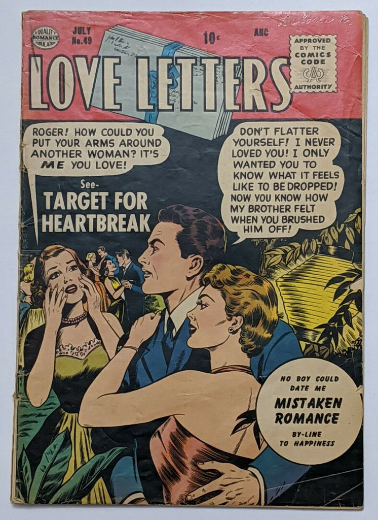 Love Letters #49 (Jul 1956, Quality) Good 2.0
