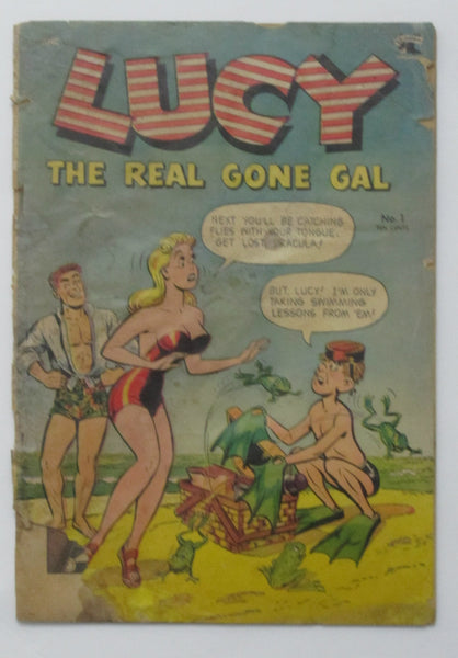 Lucy The Real Gone Gal #1 (Jun 1953, St. John) Fair 1.0 Lily Renee art