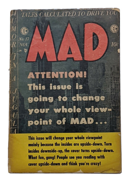 Mad #17 (Nov 1954, EC) Good- 1.8 Bernie Krigstein Basil Wolverton art