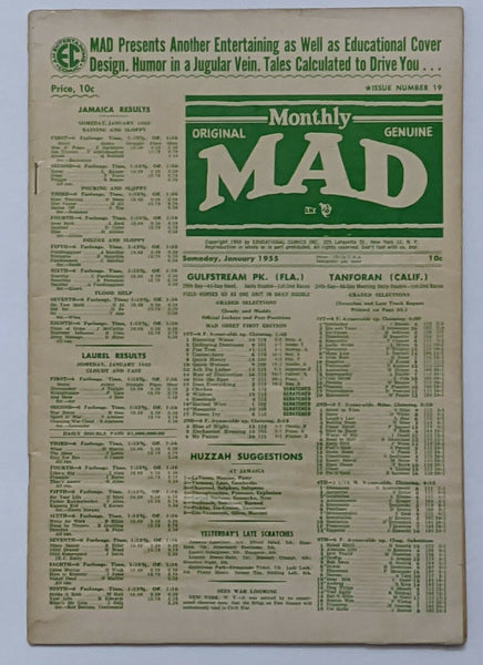 Mad #19 (Jan 1955, EC) VG- 3.5 Wally Wood art