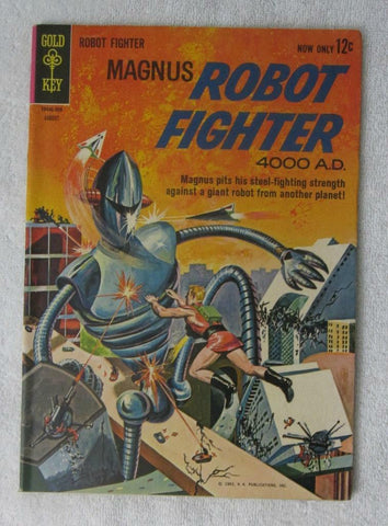 Magnus, Robot Fighter #3 (Aug 1963, Western Publishing) VF- 7.5