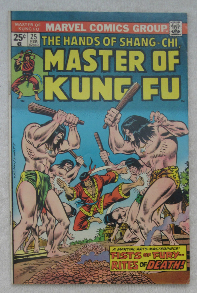 Master of Kung Fu #25 (Feb 1975, Marvel) Shang-Chi F/VF 7.0