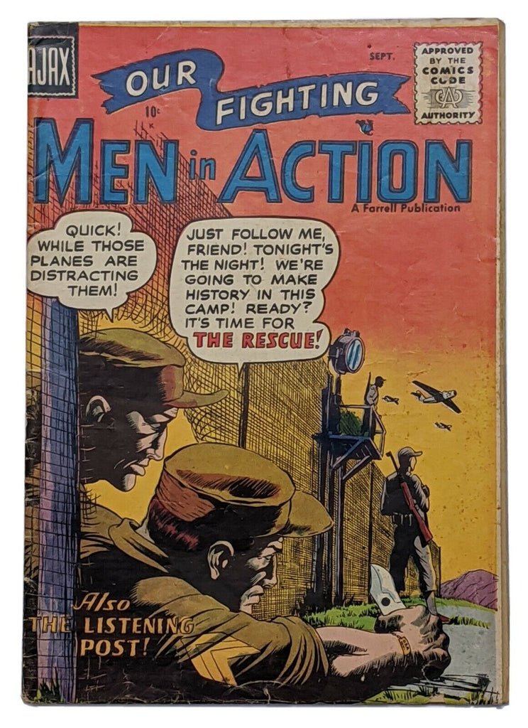 Men In Action #3 (Sept 1957, Ajax-Farrell) VG- 3.5