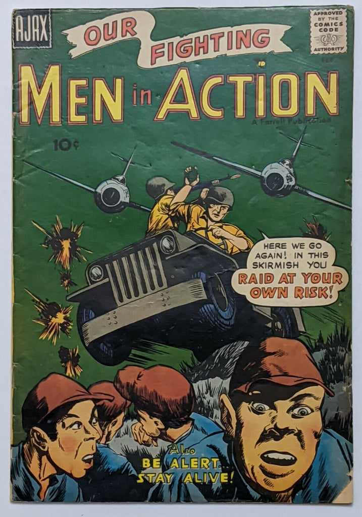 Men In Action #5 (Feb 1958, Ajax-Farrell) VG- 3.5