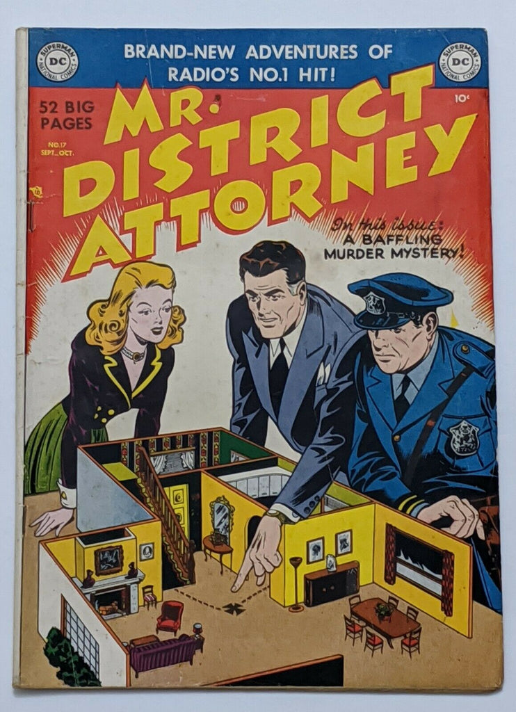 Mr. District Attorney #17 (Oct 1950, DC) VG/FN 5.0 Henry Boltinoff art