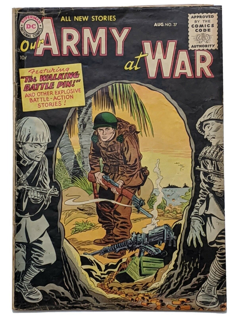 Our Army At War #37 (Aug 1955, DC) G/VG 3.0 Ross Andru art