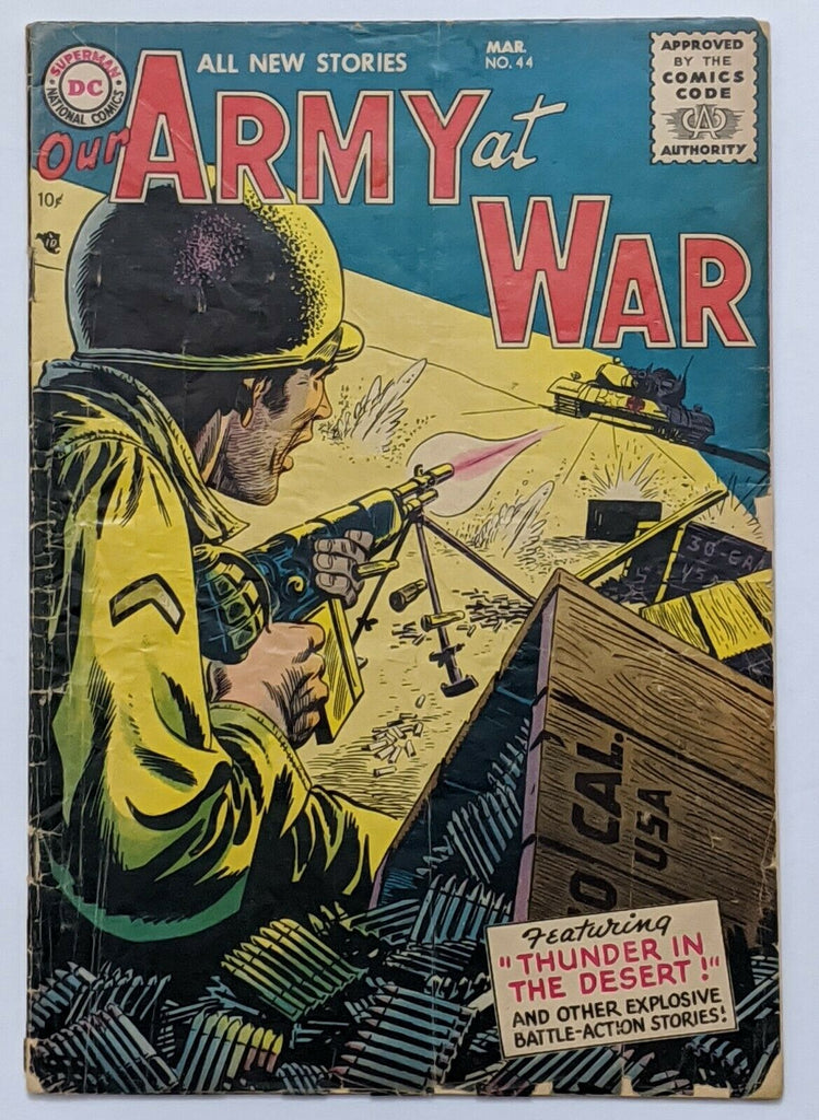 Our Army At War #44 (Mar 1956, DC) Good 2.0 Russ Heath art