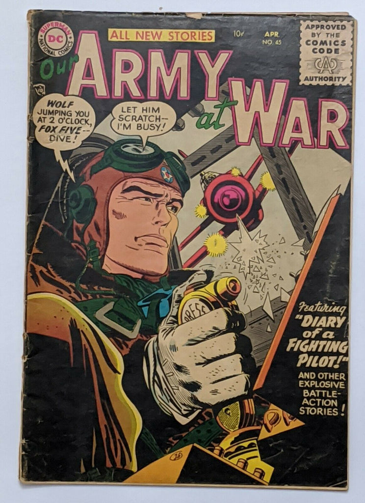 Our Army At War #45 (Apr 1956, DC) Good 2.0 Ross Andru art