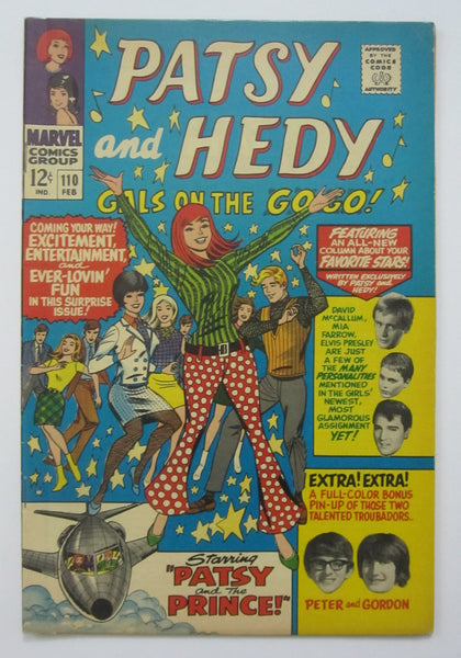 Patsy and Hedy #110 (Feb 1967, Marvel) FN/VF 7.0
