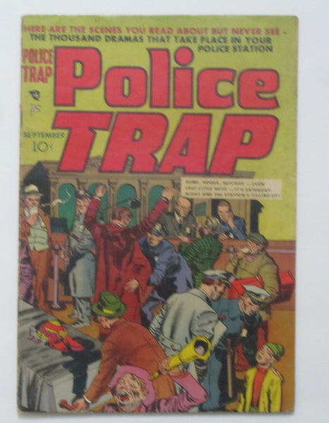 Police Trap #1 (Aug-Sep 1954, Mainline) VG 4.0 Simon & Kirby cover
