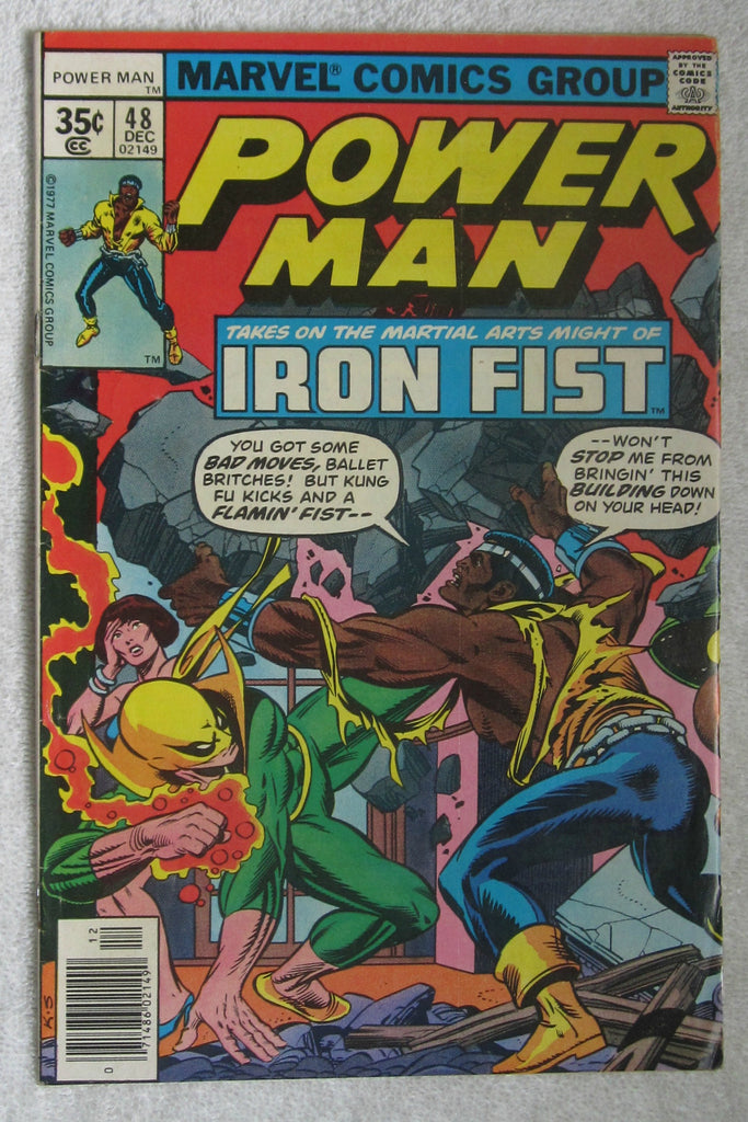 Power Man #48 (Dec 1977, Marvel) 1st Power Man/Iron Fist team up FN- 5.5