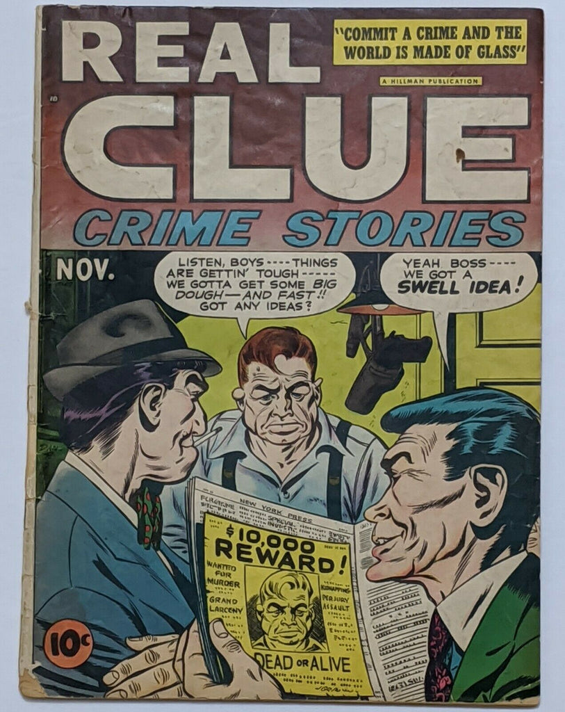 Real Clue Crime Stories Vol 2 No 9 (Nov 1947, Hillman) Good- 1.8