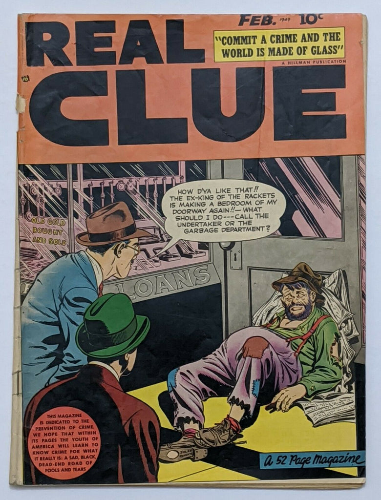 Real Clue Crime Stories Vol 3 No 12 (Feb 1949, Hillman) G/VG 3.0