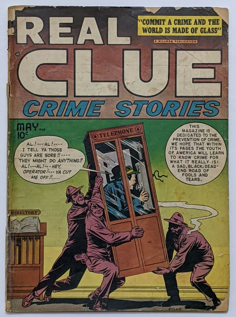 Real Clue Crime Stories Vol 3 No 3 (May 1948, Hillman) Good- 1.8