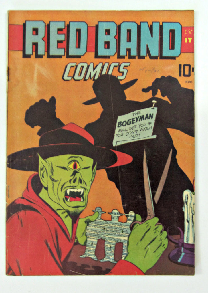 Red Band Comics #4 (May 1945, Rural Home) VG/FN 5.0