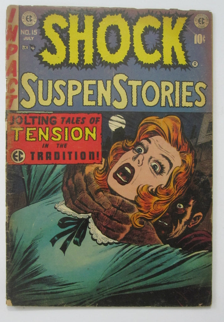 Shock Suspenstories #15 (Jun/Jul 1954, EC) Jack Kamen cvr Wood & Crandall art GD- 1.8