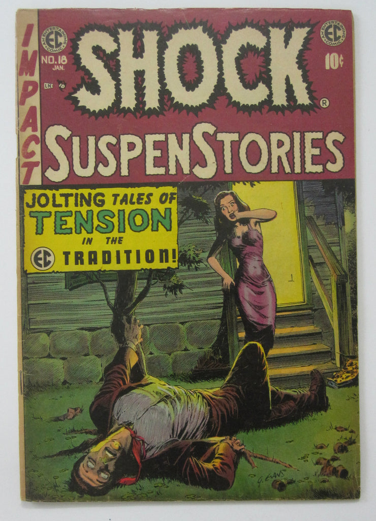 Shock Suspenstories #18 (Jan 1955, EC)  Bernie Krigstein & Reed Crandall art VG+ 4.5