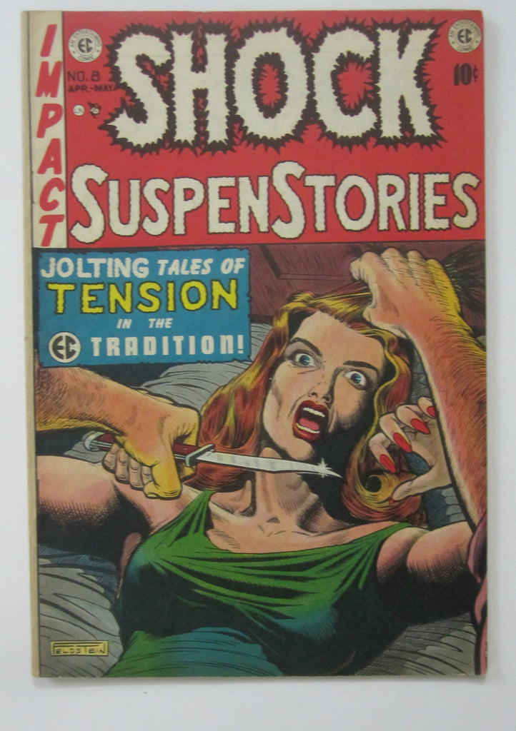 Shock Suspenstories #8 (Apr/May 1953, EC)  Jack Kamen & Wally Wood art FN/VF 7.0