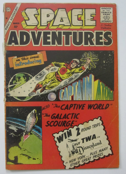 Space Adventures #33 (Mar 1960, Charlton) 1st Captain Atom Steve Ditko art VG- 3.5
