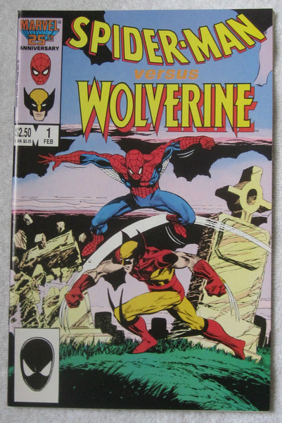 Spider-Man vs. Wolverine #1 (Feb 1987, Marvel) Death of Ned Leeds NM- 9.2