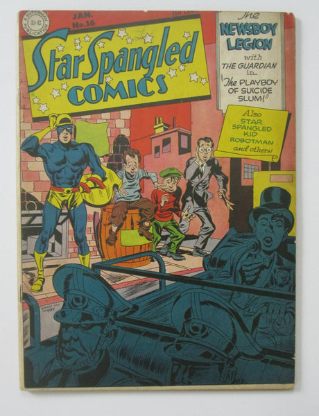 Star Spangled Comics #16 (Jan 1943, DC) Simon & Kirby cvr VG/FN 5.0