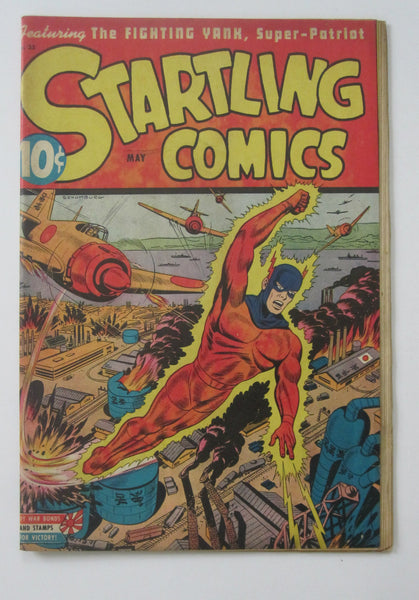 Startling Comics #33 (May 1945, Pines) Alex Schomburg cvr VG 4.0