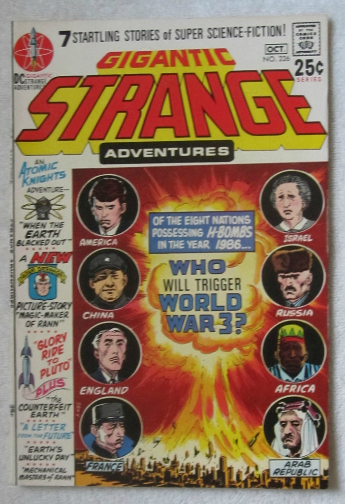 Strange Adventures #226 (Sep-Oct 1970, DC) Kubert cvr F/VF 7.0