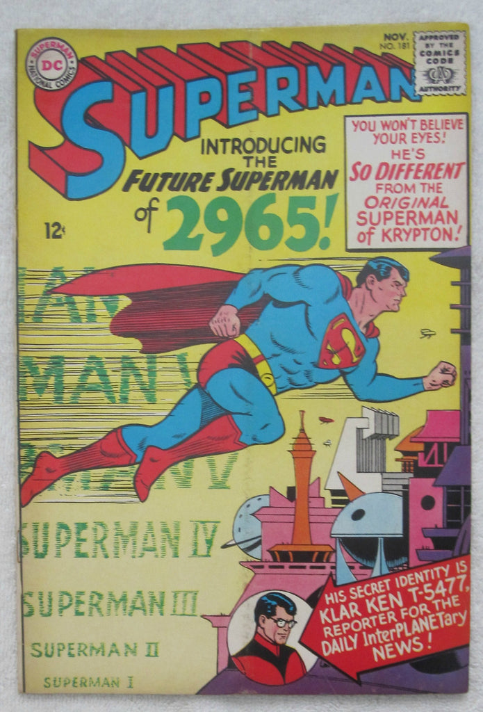 Superman #181 (Nov 1965, DC) G/VG 3.0
