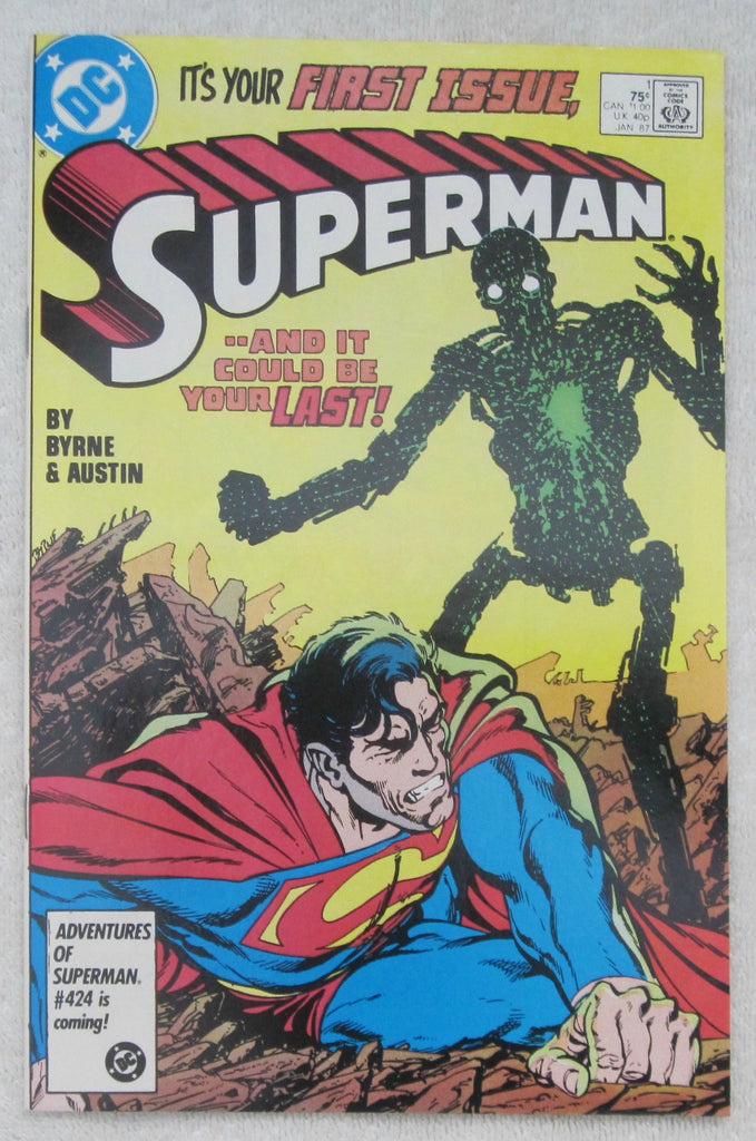 Superman #1 (Jan 1987, DC) Byrne cover NM- 9.2