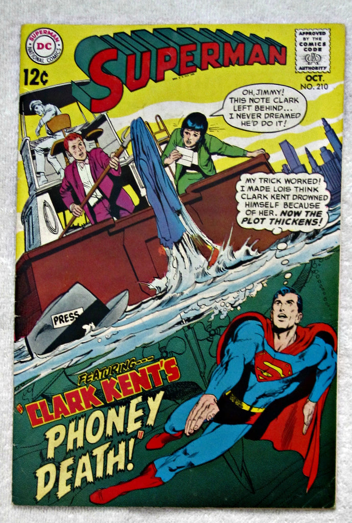 Superman #210 (Oct 1968, DC) Fine- 5.5