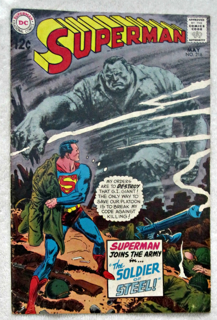 Superman #216 (May 1969, DC) Fine 6.0