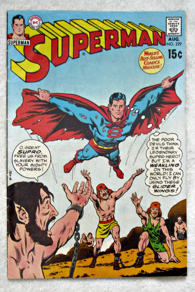 Superman #229 (Aug 1970, DC) VG 4.0