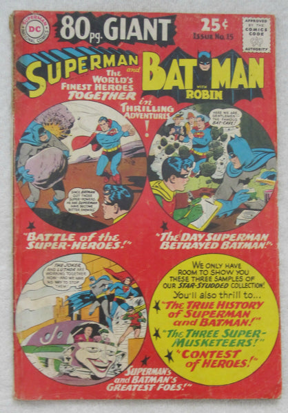 80 Page Giant Magazine #15 (Oct 1965, DC) Superman/Batman Good 2.0