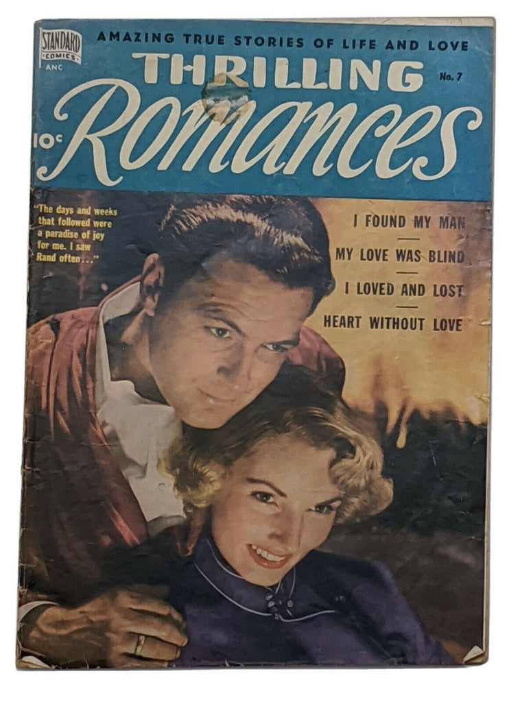 Thrilling Romances #7 (Apr 1950, Standard) G/VG 3.0 John Severin Bill Elder art