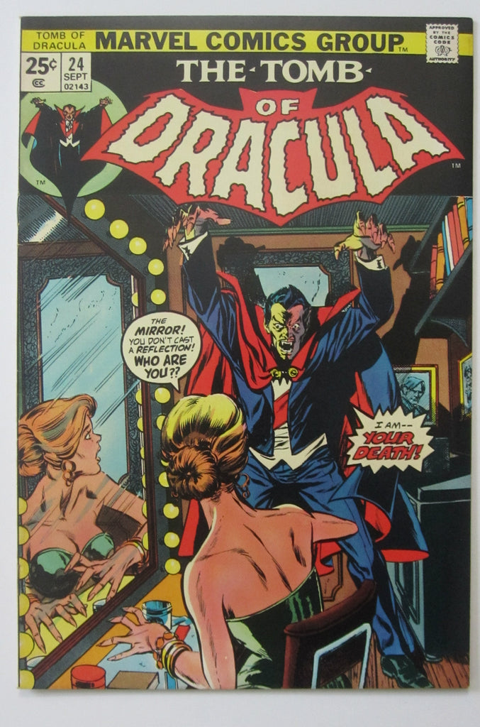 Tomb of Dracula #24 (Sep 1974, Marvel) Blade app VF/NM 9.0