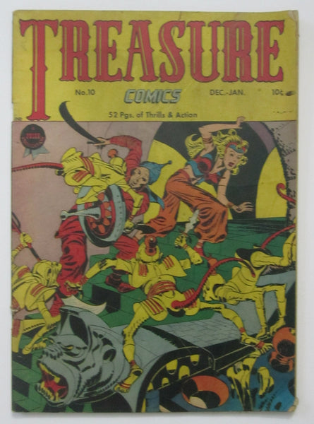 Treasure Comics #10 (Dec/Jan 1947, Prize) VG- 3.5 Simon & Kirby cvr
