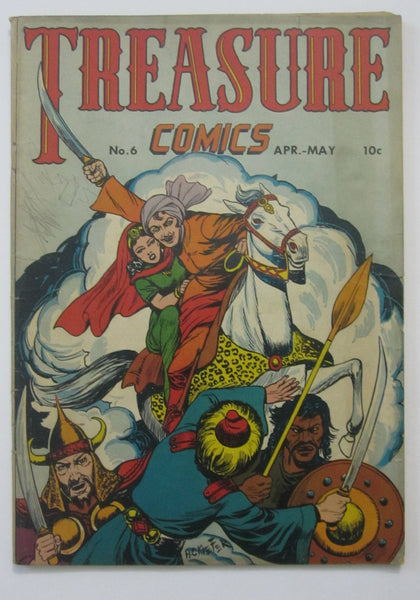Treasure Comics #6 (Apr/May 1946, Prize) VG 4.0 Bernie Krigstein art