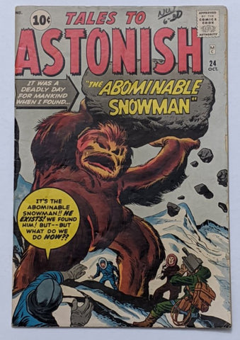 Tales To Astonish #24 (Oct 1961, Marvel) VG/FN 5.0 Jack Kirby/Dick Ayers cover