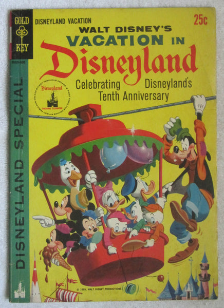 Walt Disney's Vacation In Disneyland #1 ([August] 1965, Gold Key) VG 4.0