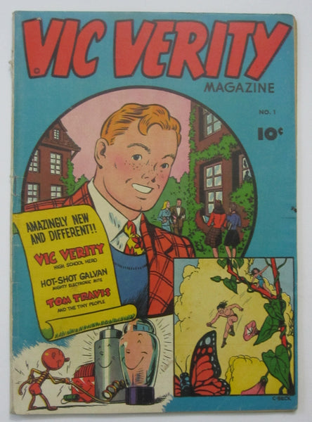 Vic Verity #1 (1945, Don Fortune) VG 4.0 C.C. Beck cvr