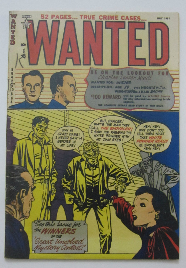 Wanted Comics #39 (Jul 1951, Orbit) Drug story VG/FN 5.0