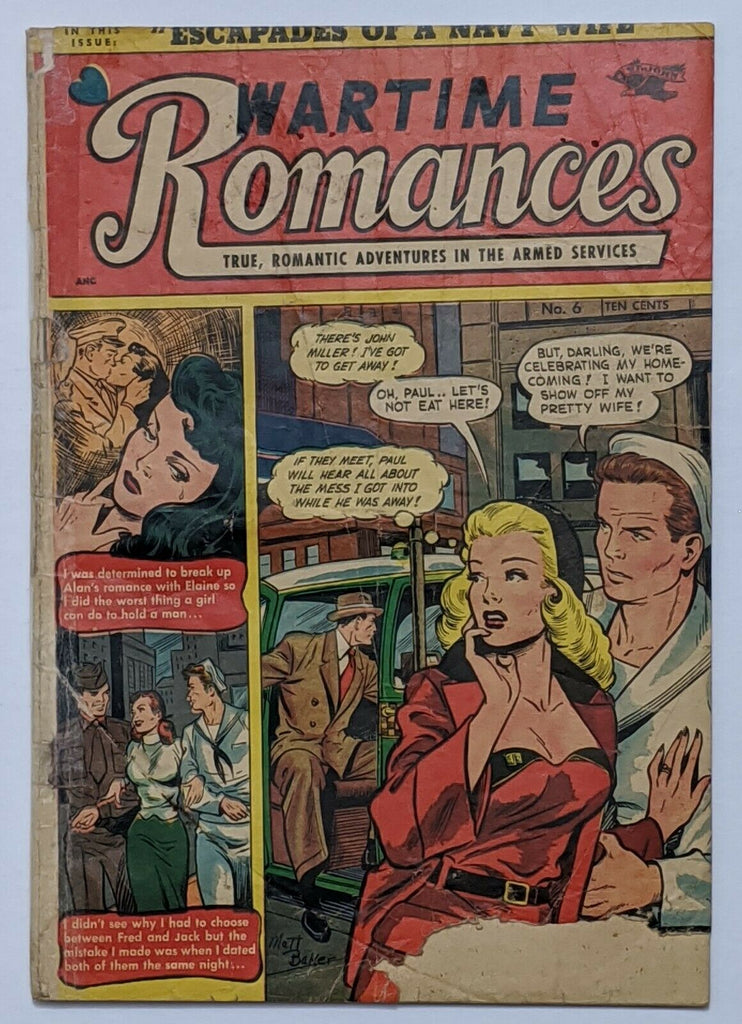 Wartime Romances #6 (May 1952, St John) Fair/Good 1.5 Matt Baker cover